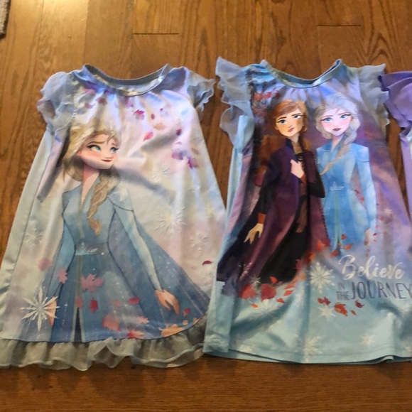 Girls Frozen Nightgowns - Set of 3 4t